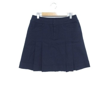 プロポーション ボディドレッシング PROPORTION BODY DRESSING スカート 台形 ミニ ショート リネン混 麻混 L 紺 ネイビー /M2O4 レディース