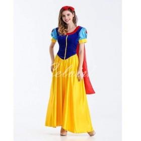 ディズニー コスプレ クリスマス スノーホワイト 白雪姫 風 ドレス 大人用 ドレス コスプレ衣装 C-2856c0059