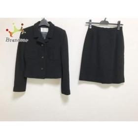 ハロッズ HARRODS スカートスーツ レディース 美品 黒 肩パッド/冬物     スペシャル特価 20190717