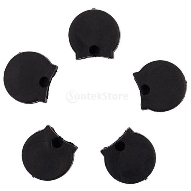 指保護 木管楽器パーツ 5個 クラリネット 指レストクッション ブラック 高品質