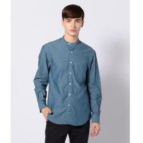 TOMORROWLAND / トゥモローランド コットンダンガリー バンドカラーシャツ