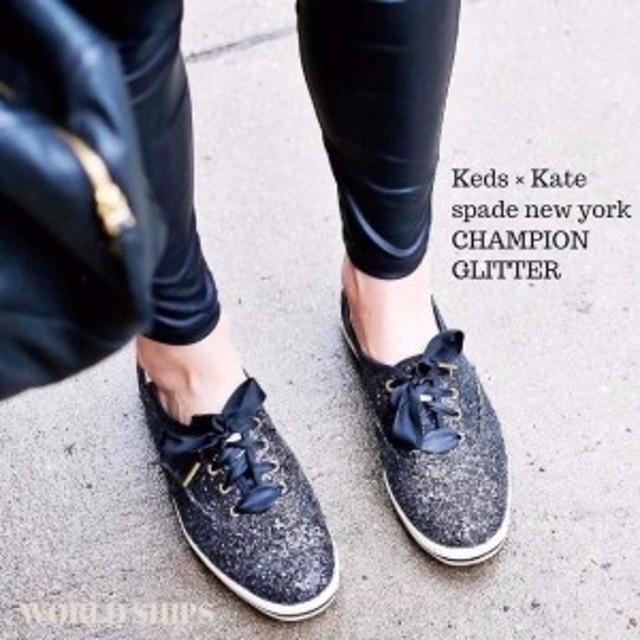 fb01cf46c88 ケッズ × ケイトスペード ニューヨーク コラボ グリッター スニーカー KEDS X kate spade new york CHAMP