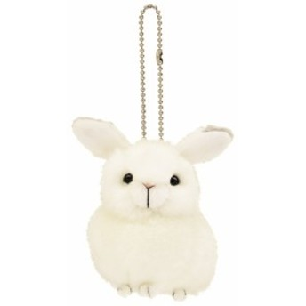 ユキウサギ 雪兎 ぬいぐるみキーチェーン りくのどうぶつシリーズ アニマルグッズ シネマコレクション