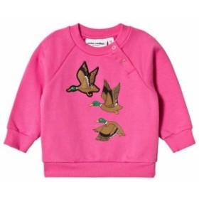 セーター カーディガン ボレロ キッズ 女の子【Mini Rodini Cerise Duck Sweatshirt】