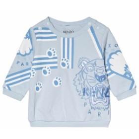 ケンゾー セーター カーディガン ボレロ キッズ 女の子【Kenzo Kids Blue Tiger Print and Paws Sweatshirt】