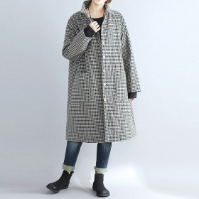 ライトアウター ギンガムチェック 羽織り ロング丈 アウター レディース (jk086)