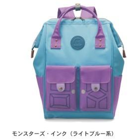 バッグ カバン 鞄 レディース リュック ディズニー ひょっこりフラップポケット付きがま口リュック モンスターズ・インク(ライトブルー系)