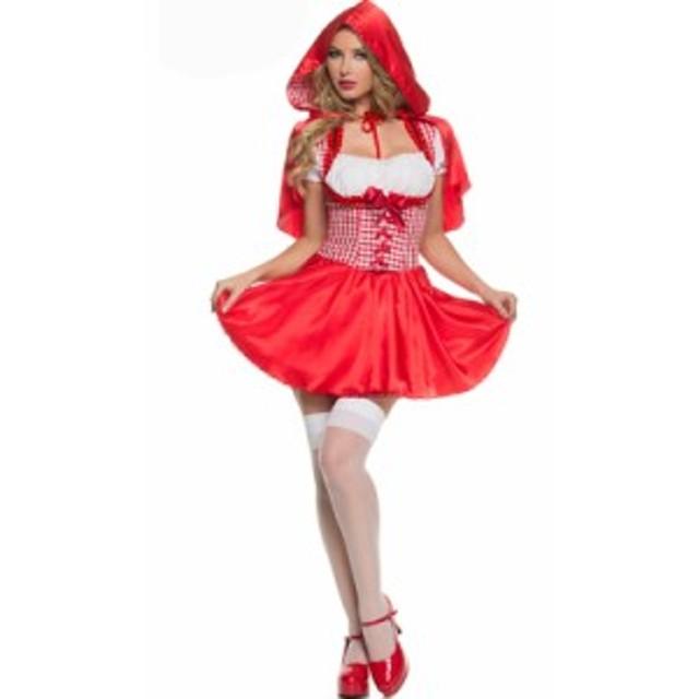d0a8561087357 衣装服 ドレス ハロウィン パフォーマンス 舞台衣装 パーティー歌手服 イベント女ダンス 赤ずきん