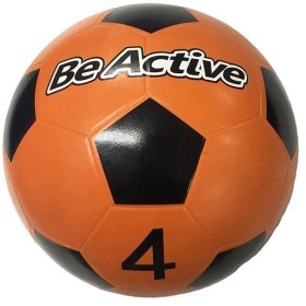 ビーアクティブ(BeActive) サッカー ゴムボール 4号 オレンジ×ブラック BA-5281 サッカーボール おもちゃ ボール遊び 練習 子供