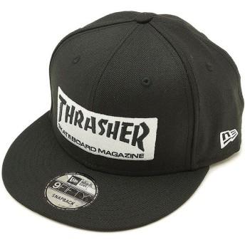 ニューエラ キャップ NEWERA スラッシャー ロゴキャップ 9FIFTY THRASHER STICKER CAP バックストラップ メンズ レディース 帽子 ブラック 11781331 FW18