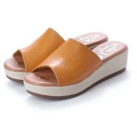 オー マイ サンダルズ Oh my Sandals 【INTER-CHAUSSURES】クッションインソールミュールサンダル (イエロー)