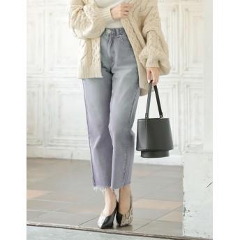 パンツ・ズボン全般 - Re: EDIT 切りっぱなし加工がこなれ感をプラス カットオフストレートデニムパンツ ボトムス/パンツ/デニムパンツ