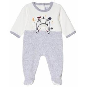 アブソーバ オールインワン オーバーオール キッズ 男の子【Absorba White and Grey Space Bunny Velour Baby