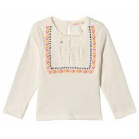 ビリーブラッシュ Tシャツ 長袖 トップス キッズ 女の子【Billieblush White Heart Embroidered Long Sleeve T-