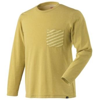MIZUNO SHOP [ミズノ公式オンラインショップ] ブレスサーモポケットプリントクルーネックシャツ[メンズ] 47 マスタード杢 A2MA8537