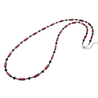 赤メノウ&ブラックスピネルネックレス
