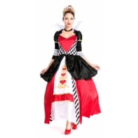 衣装服 ドレス ハロウィン パフォーマンス 舞台衣装 パーティー歌手服 イベント女ダンス  クイーンオブハート 風