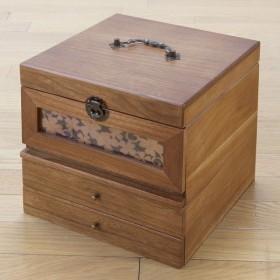 コスメボックス 切り絵風 和風 小物収納 コスメケース 収納ボックス 小物入れ 切り絵風コスメボックス 化粧品収納 木製 収納 コンパクト 代引不可