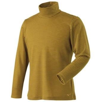 MIZUNO SHOP [ミズノ公式オンラインショップ] ブレスサーモボーダーハイネックシャツ[メンズ] 47 ゴールデンパーム A2MA8540