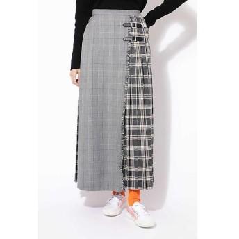ROSE BUD / ローズ バッド チェックプリントプリーツスカート