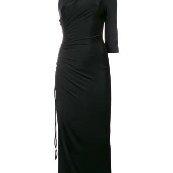 Off-White アシンメトリー タイト ドレス - ブラック