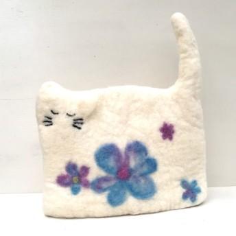 猫のティーコージー お花