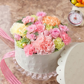 【最速で翌日配送対応】アレンジメント「Pastel Cake」