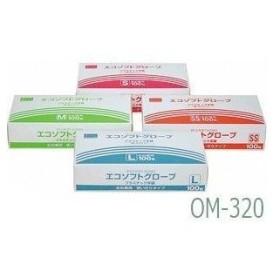 オカモト エコソフトグローブ   S   1箱100枚入 (OM-320)【入数:20】