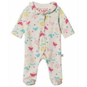 オールインワン オーバーオール キッズ 女の子【Frugi Baby Pink Chickadee Babygrow】