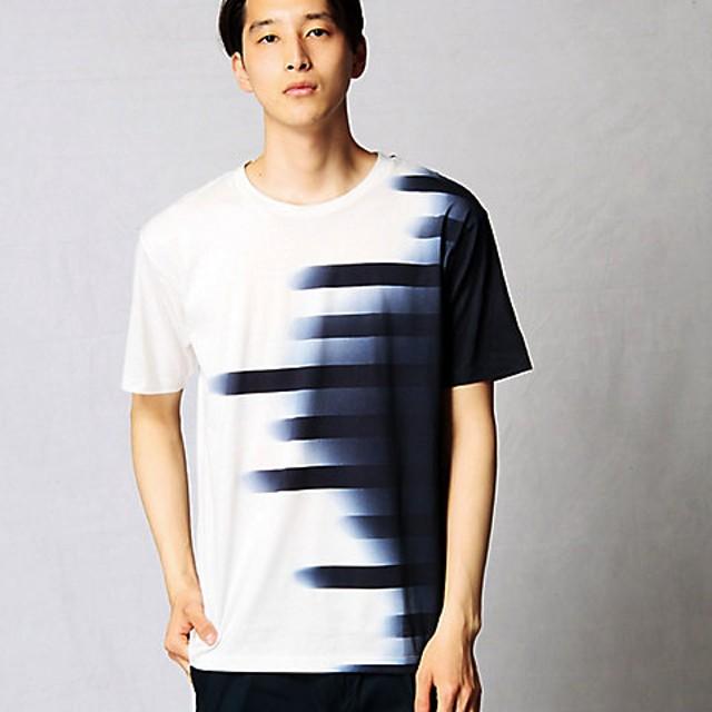 【SALE(伊勢丹)】<β MEN> グラデーションボーダーTシャツ(2742TF08) シロ【三越・伊勢丹/公式】