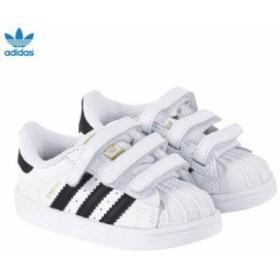 アディダスオリジナル スニーカー シューズ 靴 キッズ 女の子【adidas Originals Superstar Velcro Trainers