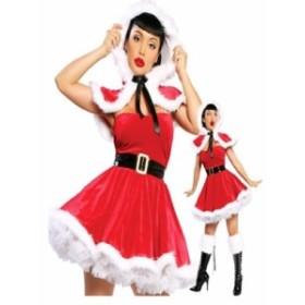 レディースサンタクロース  コスプレ  激安 サンタクロース クリスマス コスチューム こすぷれ 赤 普通 ワンピース