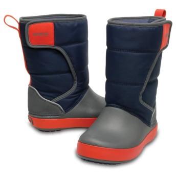 【クロックス公式】 ロッジポイント スノー ブーツ キッズ Kids' LodgePoint Snow Boot ユニセックス、キッズ、子供用、男の子、女の子、男女兼用 ブルー/青 15cm,15.5cm,16.5cm,17.5cm,18cm,18.5cm,19cm,19.5cm,20cm,21cm boot ブーツ