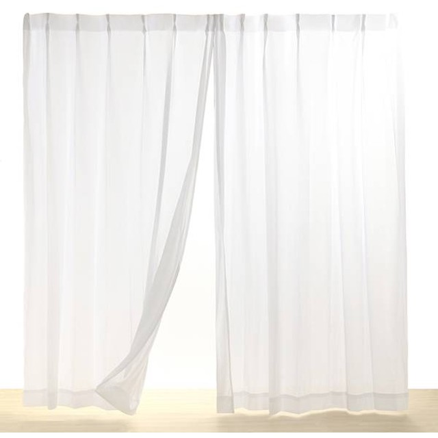 HOME COORDY 遮熱 UV遮蔽 遮像 プライバシー保護 レースカーテン アイボリー 100X103cm 1枚入り HC-TML ホームコーディ 100X103cm 1枚入り