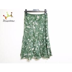 ジユウク 自由区/jiyuku スカート サイズ38 M レディース ダークグリーン×白           スペシャル特価 20191018