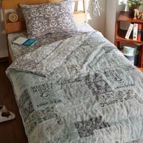 毛布  ディズニー 綿100%とマイクロファイバーのわた入り毛布 シングル