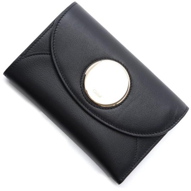 クロエ Chloe 3つ折り財布 小銭入れ付き PASTILLE ブラック レディース chc18ap052h1z-001-black
