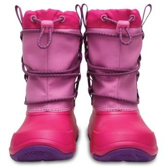 【クロックス公式】 スウィフトウォーター ウォータープルーフ ブーツ キッズ Kids' Swiftwater Waterproof Boot ユニセックス、キッズ、子供用、男の子、女の子、男女兼用 ピンク/ピンク 15.5cm,18cm,18.5cm,19.5cm,20cm boot ブーツ