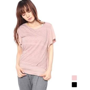 ティゴラ レディース フィットネス 半袖Tシャツ (TR-3F2838TS) TIGORA