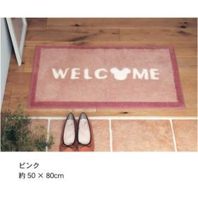 玄関マット マット おしゃれ ディズニー ミッキー 洗える 日本製 すべりにくい ピンク 約40×65