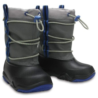 【クロックス公式】 スウィフトウォーター ウォータープルーフ ブーツ キッズ Kids' Swiftwater Waterproof Boot ユニセックス、キッズ、子供用、男の子、女の子、男女兼用 ブラック/黒 18.5cm,19.5cm boot ブーツ
