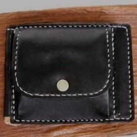 送料無料!札バサミ?ウォレット?ウォレットの機能を持ったマネークリップ、特別な栃木のオイルヌメ革の黒