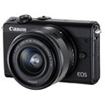 Canon ミラーレス一眼カメラ EOS M100 EF-M15-45 IS STM レンズキット(ブラック) EOSM100BK1545ISSTMLK 中古 良品