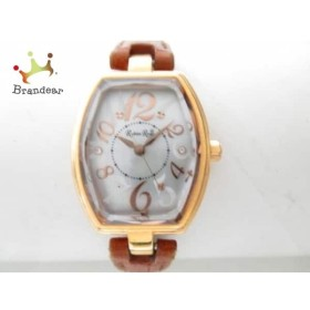 ルビンローサ Rubin Rosa 腕時計 R018 レディース 革ベルト シルバー       スペシャル特価 20190618