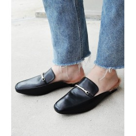 パンプス - minia ファーバブーシュ 【 minia ミニア 18AW新作 】スリッパ スリッポン ファー ビット ローファー ローヒール歩きやすい痛くないレディース シューズ 靴