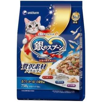 銀のスプーン 贅沢素材バラエティ まぐろ・かつお・白身魚味 ( 750g )/ 銀のスプーン ( キャットフード )