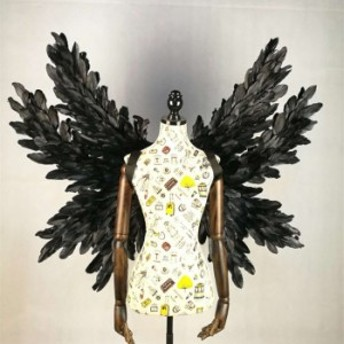 コスプレ道具 天使 羽 100120 翼 ブラック 天使の翼 妖精 天使の羽 ファッションショー パーティーグッズ 撮影 cosplay用 コスプレ