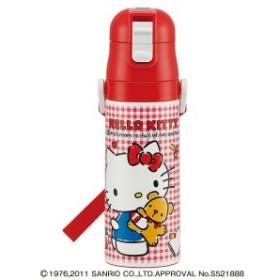 [サンリオ]ダイレクトステンレスボトル ハローキティチェック柄(470ml) [ 水筒 すいとう ボトル 女の子 sanrio ハローキティー キテ