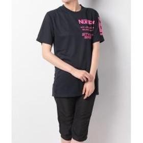(セール)Number(ナンバー)バレーボール 半袖プラクティスシャツ デザインTEEシャツ STYLE OF SPRITS NB-S18-104-002 ネイビー