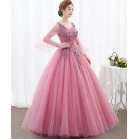 ロングドレス ドレス 大きいサイズ 演奏会 ピアノ 二次会 フォーマル 発表会 パーティードレス 結婚式